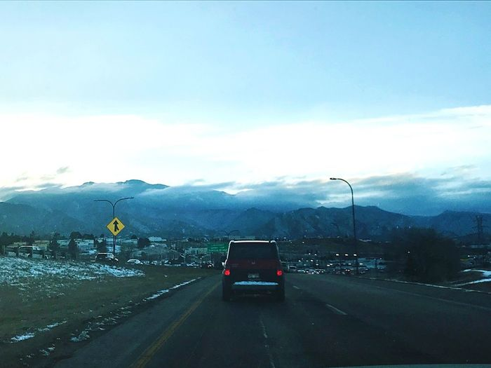 I-25 North heading into Colorado Springs. Colorado Colorado Springs, CO Transportation Road Mountain Car The Way Forward Land Vehicle Mobility In Mega Cities Outdoors Sky No People