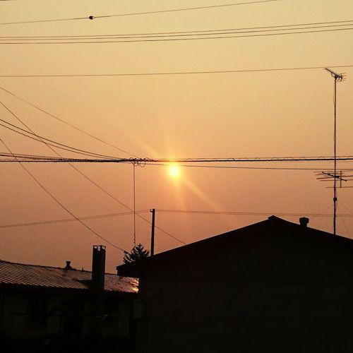 自宅近く イマソラ 夜明け 朝陽🌅 気温は 5℃ 風が冷たい