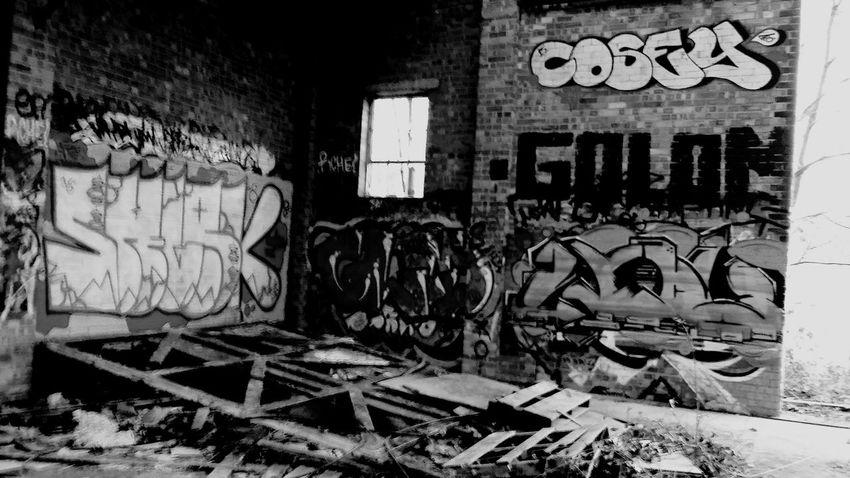 Black And White Abandoned Buildings Graffiti Art Secret Places Wood Eyeem Graffiti EyeEm Gallery