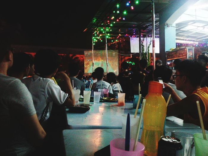 Olympic 2016 Kampar Man Double Final SUPPORT Malaysia Mamak Crowd Watching The Best 1st Runner Up People And Places My Year My View