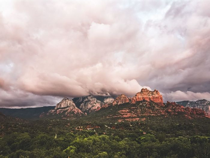 Shot off my iPhone Nature Sky Mountain Landscape Mountain Range Outdoors Travel Destinations Arizona Connected By Travel Summer Exploratorium