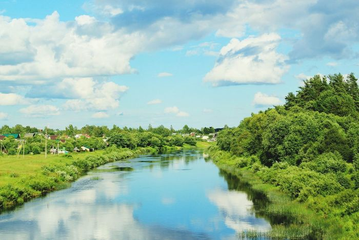 Russia Pskov Mirror Travel Travelling Hello World Sky River Clouds Beauty