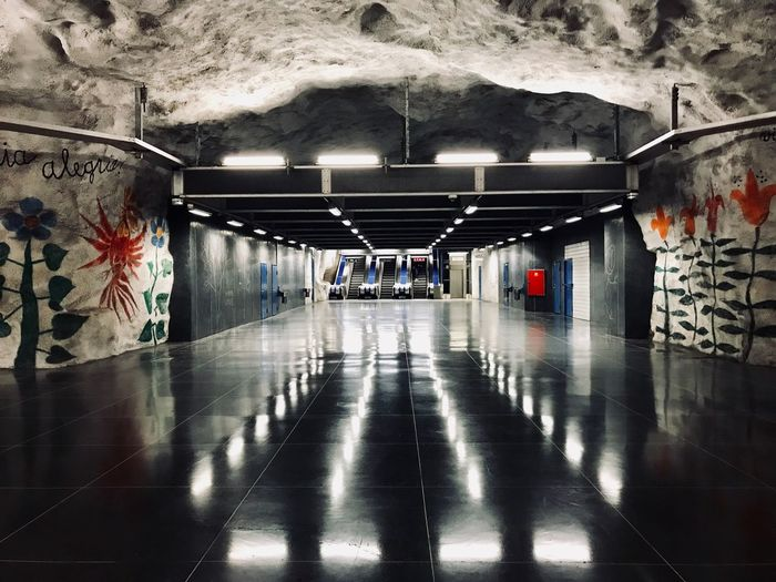 The Week on EyeEm Architecture Built Structure The Way Forward Direction Transportation Reflection Flooring Illuminated Lighting Equipment Public Transportation Subway Graffiti Tiled Floor