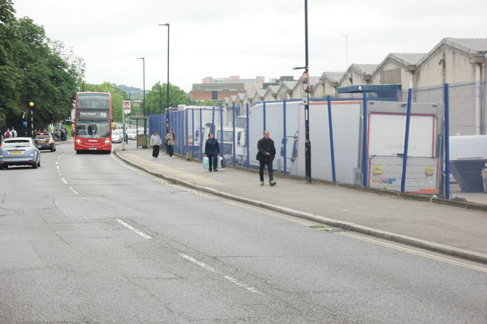 Bleak Bus Industrial Estate Suburban Walking
