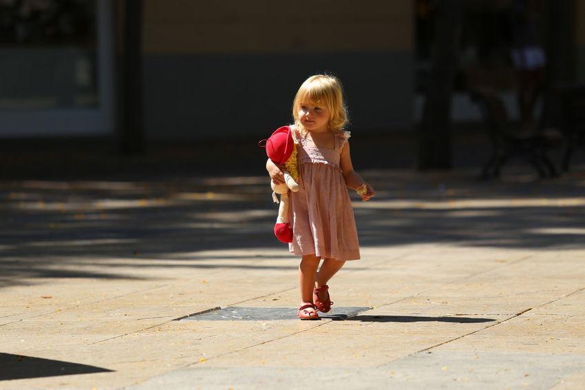 Focus On The Story Full Length Childhood Child Girls Sunlight Walking