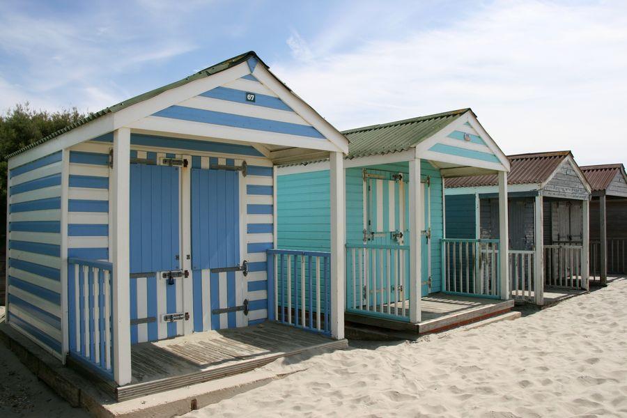 Beach huts Beach Beach Huts Seaside Summer