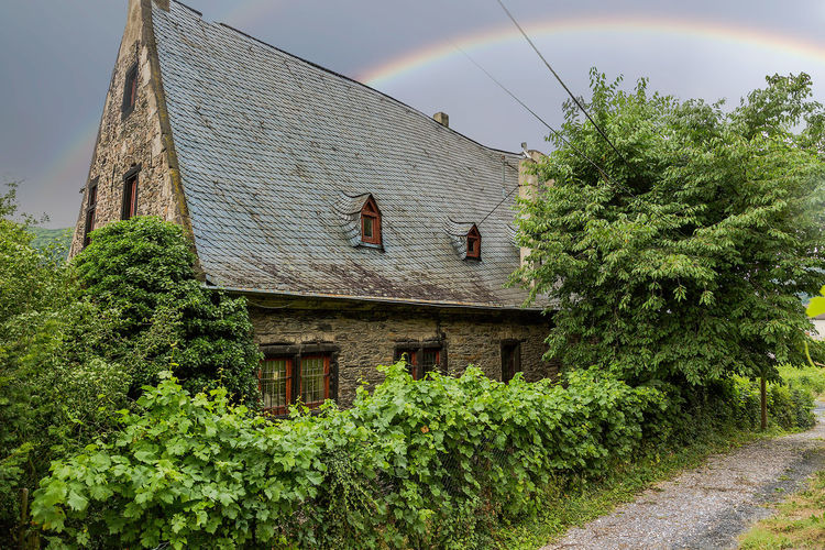 Agriculture Growth Outdoors Day Field Nature No People Sky Green Color Rainbow Cloud - Sky EyeEm Selects Photography Rural Scene Low Angle View Grass Freshness Traveling Building Exterior Nature Good Morning Farm Life Landscape_photography Germany Andernach