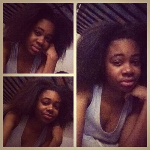 Chilling Just Took Out My Hair