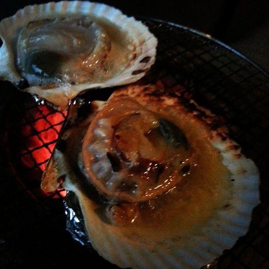 美味しい♡ うまい ホタテ 浜焼き