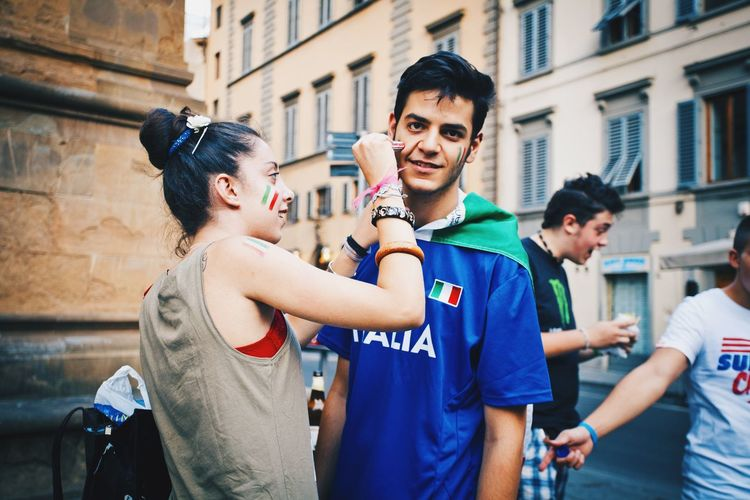Italy Rome Roma Fans Football Streetphotography Streetphoto_color TwentySomething