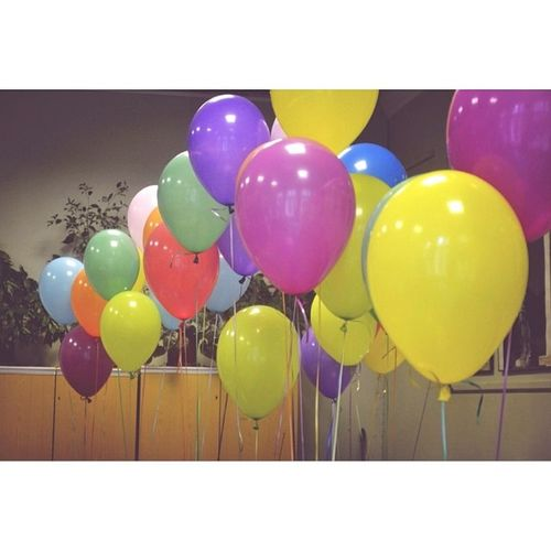 ? Like Love Nice Cute party prty ballon colorful yellow pink blue green violet air summer russia instasize follow