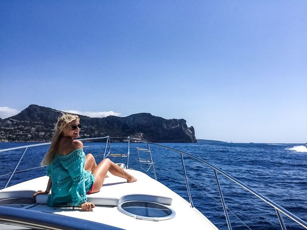 Boat Trip Blond Women Sea Nautical Vessel Vacations Transportation Blue Mode Of Transport Sailing Summer Water Nature Journey Travel Leisure Activity Yacht Outdoors Boat Deck Young Adult Clear Sky Beauty In Nature
