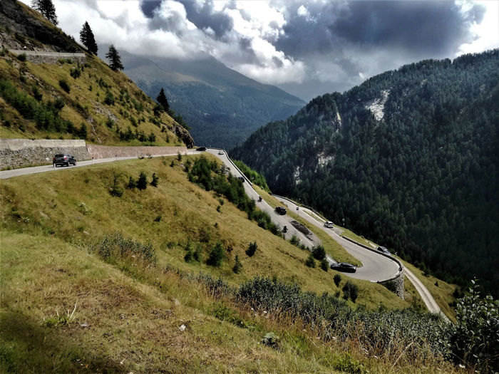 Climbing Road Dramatic Sky Hairpin Turns Timmelsjoch Hochalpenstraße Beauty In Nature Cloud - Sky Contrast Environment High Angle View Landscape Light And Shadow Mountain Mountain Pass Nature Non-urban Scene Outdoors Scenics - Nature Valley Winding Road My Best Travel Photo