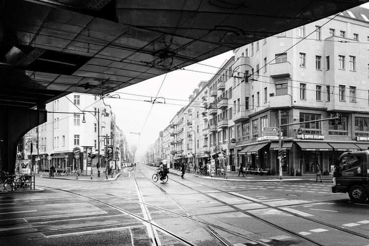 Tram Tracks Smartphone Photography Smart Phone Photographer Berlin Ecke Schönhauser Tram Tracks Architecture Building Exterior Built Structure Large Group Of People Outdoors Day City
