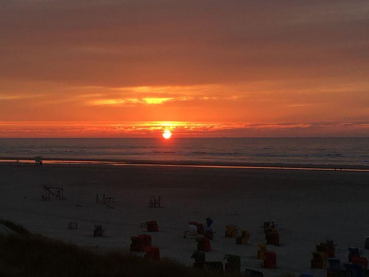 Juist 2017 Sunset Sea Nature Beach Juist Juist Nature And Sky