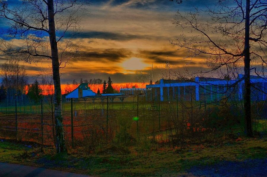 Sunset over Duveholmshallen Eye Em Nature Lover Sunset_collection Streamzoofamily Hdr_Collection