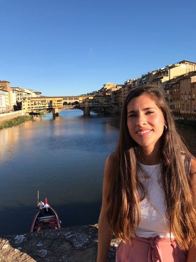 Italy Water Sky One Person Clear Sky Architecture Nature Built Structure Young Women