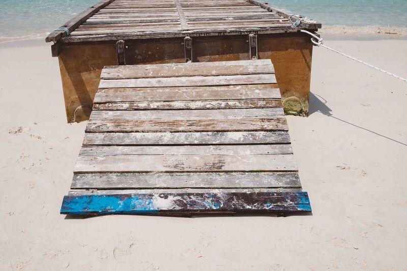 Malaysia Redang Redang Island Beach Sand Beachphotography Beach Life Beach Photography Warm Colors No People Lifeisbeautiful Sunlight Calm Calmness Wood Plank Planks Of Wood Wood - Material Wood Boards Wood Grain Wood Walk