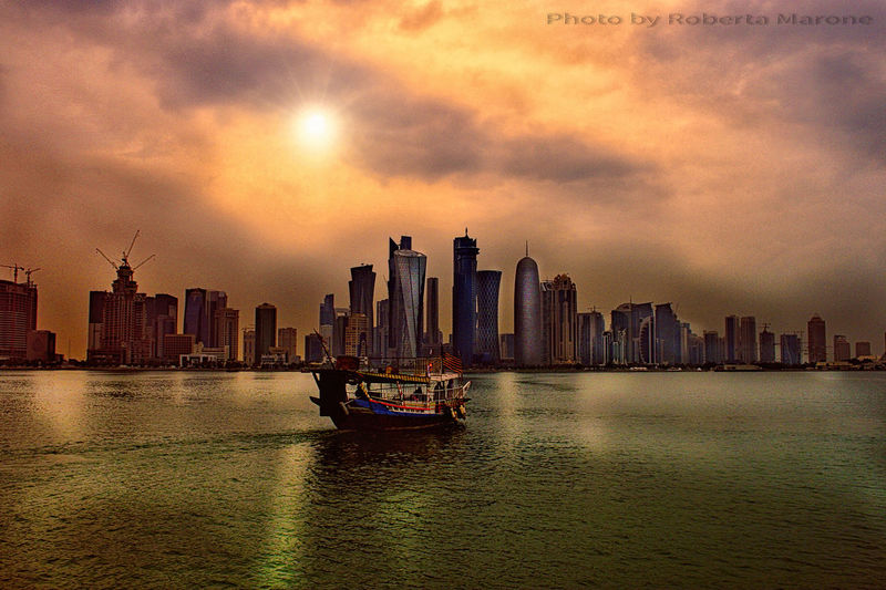 Architecture Boat City Cloud - Sky Dhow Dhowcruise Harbor Nautical Vessel Sky Skyscraper Sunset Sunset #sun #clouds #skylovers #sky #nature #beautifulinnature #naturalbeauty #photography #landscape Transportation Urban Skyline Water Waterfront