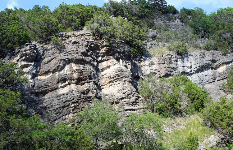 Turner Falls, Oklahoma Beauty In Nature Cliff Day Eroded Formation High Land Landscape Mountain Nature No People Non-urban Scene Outdoors Rock Rock - Object Rock Formation Scenics - Nature Solid Tranquil Scene Tree