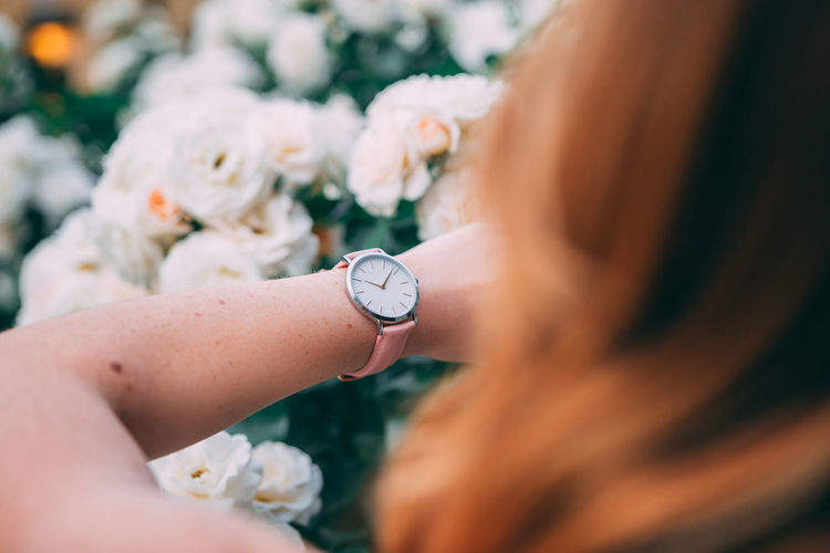 Close up portrait of Young woman city lifestyle with Watch on her wrist Adult Women Real People Time Selective Focus Hand Lifestyles Human Body Part Human Hand Watch Flowering Plant Flower One Person Close-up Day Holding Jewelry Body Part Leisure Activity Wristwatch Clock Human Limb Finger Fashion Blogger Urban Urbanphotography City Ljubljana Slovenia Portrait Portrait Of A Woman Woman Young Adult Young Women Casual Clothing Casual Look