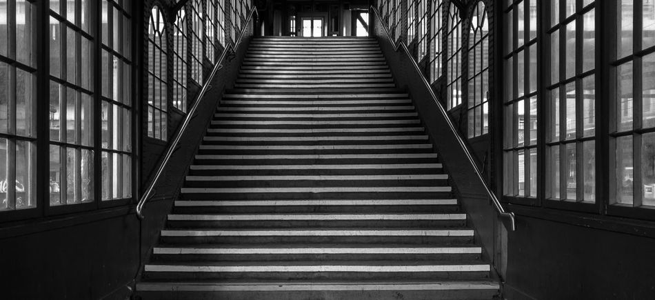 Stairway in Black and White Treppenstufen Stair Stairway stairways Schwarzweiß Schwarz & Weiß Bnwphotography Black And White Photography Architecture The Way Forward Built Structure Railing Staircase Steps And Staircases Bridge Footbridge No People The Street Photographer - 2018 EyeEm Awards