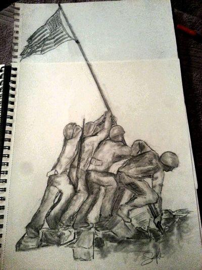 Latest drawing Military Veteran CWO3 PicArt Pow Mia Artofvisuals Art, Drawing, Creativity ArtWork Pencil Oringinal Black And White