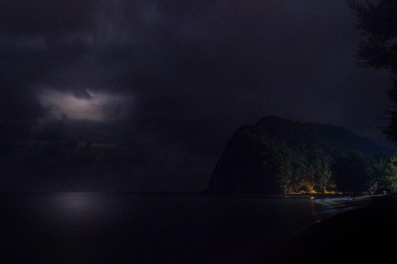 Bukit Keluang Moon Beauty In Nature Grey Sky Island Landscape Moody Night Pulau Sky