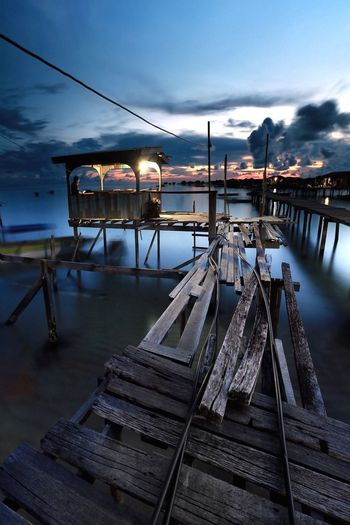 Old jetty at