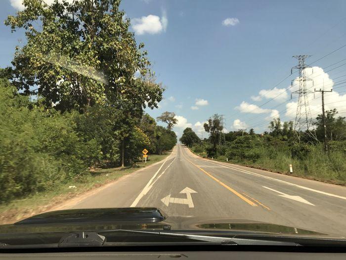 Car on road against sky