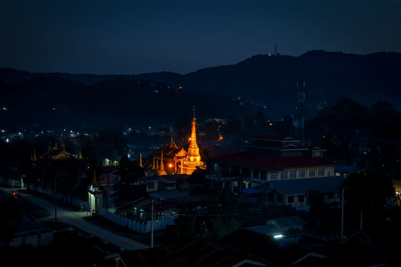 Light in the dark Myanmarburma Burma Southeastasia Landscapes Landscapelovers Asianlandscape darkness and light Light In The Darkness Darkness Wonderful_places Amazingplaces City Cityscape Illuminated Place Of Worship Religion Pagoda Stupa Myanmar Myanmar Culture Buddhist Temple Buddhism Temple