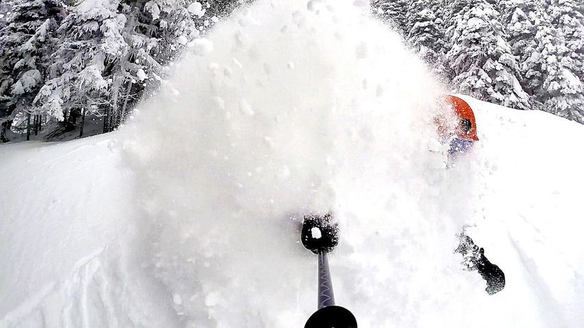 Selfie powder turn. It's Cold Outside Adrenaline Junkie My Winter Favorites Youngwildandfree Young Adult Adrenaline Snow Washington Cold Days Powderdays Go Skiing Cold Cold Temperature Coldweather The Action Photographer - 2015 EyeEm Awards Going The Distance Capture The Moment Skiing Share Your Adventure Gopro Powder The Adventure Handbook Pacific Northwest  Snow Sports Second Acts Be. Ready.