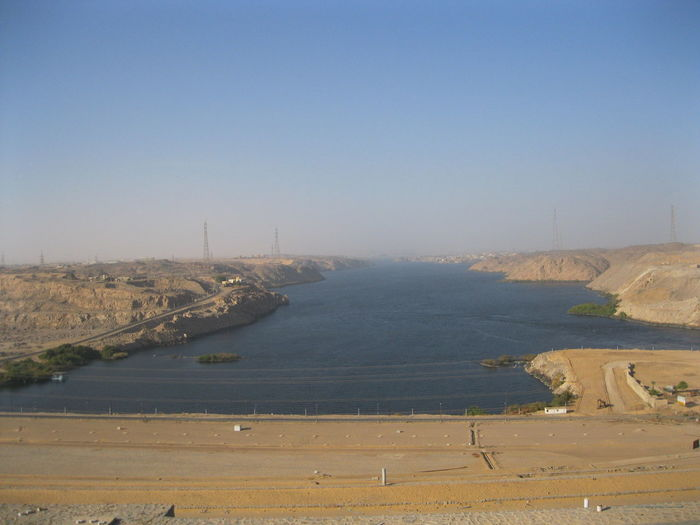 #Aswan #Egypt #Nature  #NoFilter #sun Clear Sky Lake Water