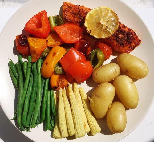 Healthy Food Dinner Meal SalmonLove