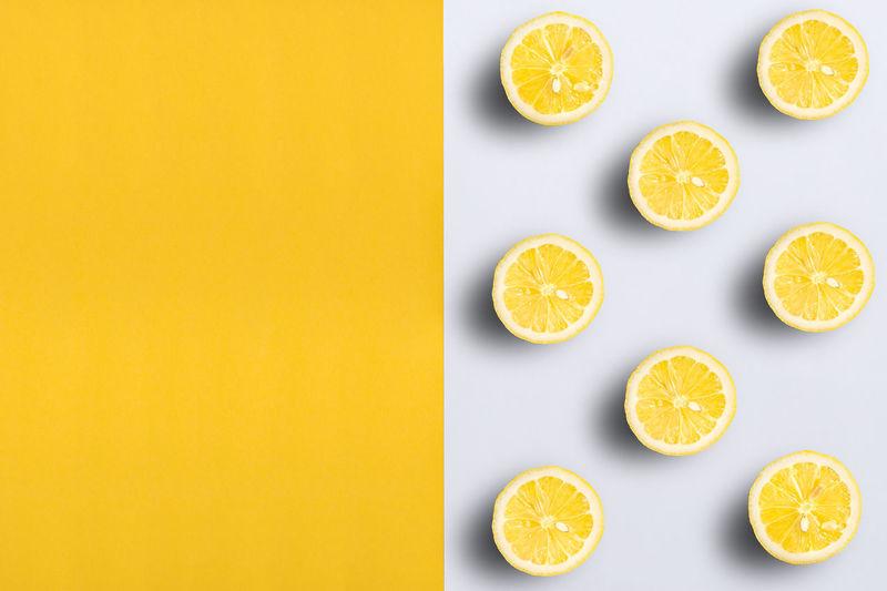 Lemon halves on