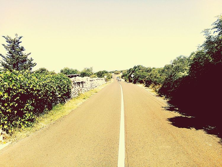 The Way Forward Road No People Nature Hittheroadjack Hitchhiking EyeEmNewHere Clear Sky Outdoors Let's Go. Together.