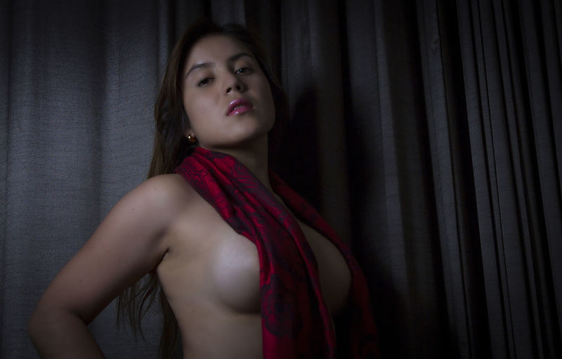 Portrait Of Beautiful Sensuous Young Woman