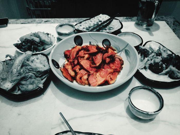 포인트는 오리고기니까!!?? Food Korean Food