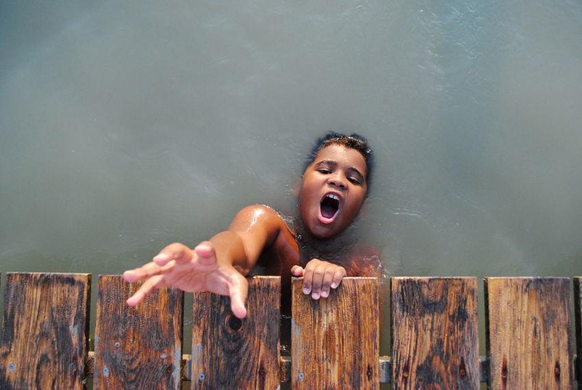 African Childhood Desperate Half Blood Helpme Kid Lake Real People Scream Water