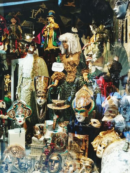 Italy Art Masks Puppets Dolls Dolls Faces Venezia Shop Behindtheglass  Lovely Amazing Colorful Culture Baroque City World Traveling The World Traveling Travel Photography Feel The Journey Europe Trip Discover Your City Discovering Italy