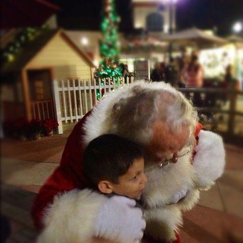 Joshua getting some Santa Lovin ! ?❤?