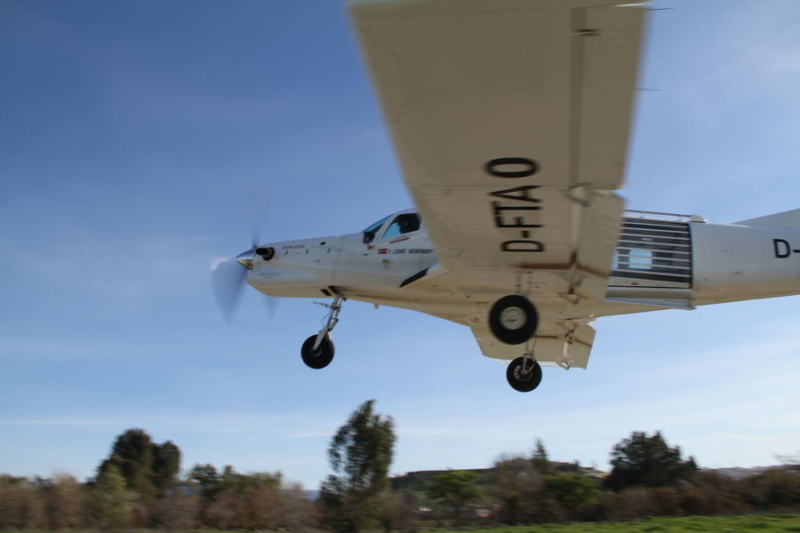 Air Vehicle Airplane Andalucía Blue Day Flying Large Low Pass Mode Of Transport Outdoors PAC 750 XL Sky Take Off Transportation White Airplane