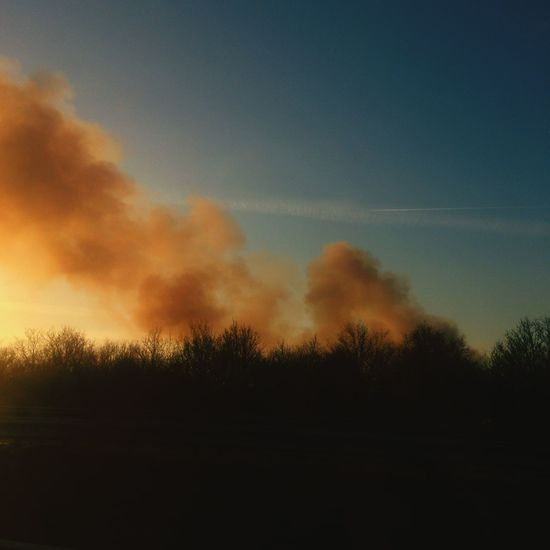 Easter Fire Easter Fire Much Smoke Traditional On My Way Home View From The Window...