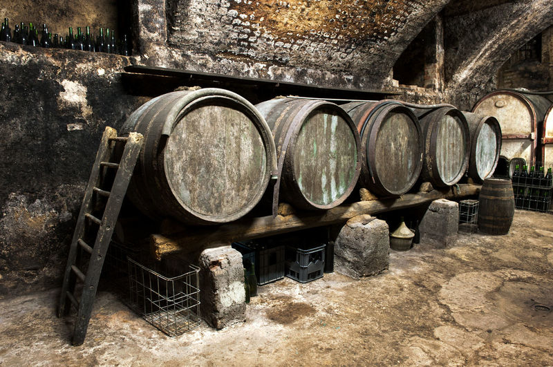 Aging Barrel Cellar Day Distillation Fermentation Indoors  Industry No People Stack Viticulture Warehouse Wine Wine Cask Wood - Material