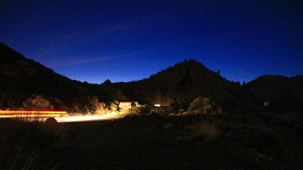 Beauty In Nature Blue Canary Islands Carlights Illuminated Light Trail Mountain Nature Night Nightphotography Nightshot No People Outdoors Sky Star - Space Tenerife, Teide Caldera, Volcano Transportation