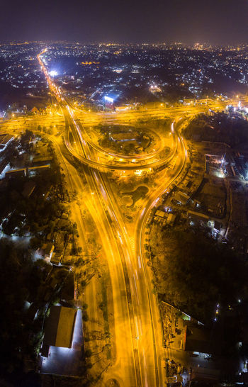 Aerial View Architecture Bridge - Man Made Structure City City Life City Street Cityscape Connection Cultures Drone  Futuristic Illuminated Long Exposure Night No People Outdoors Road Skyscraper Speed Street Light Thailand Traffic Transportation Urban Road Urban Skyline