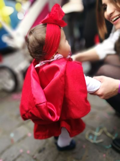 Child Childhood Outdoors Babies Only Carnaval Red Hood Carnival Crowds And Details