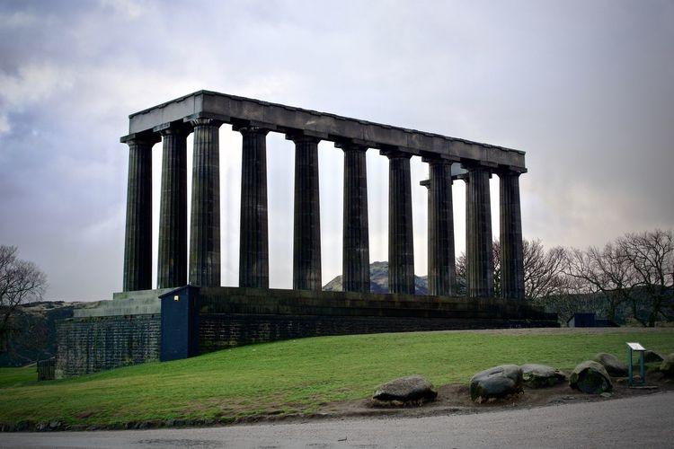 Architectural Column Architecture Travel Destinations No People Edinburgh Calton Hill National Monument Of Scotland Colonnade Tourism Travel Outdoors History Acropolis