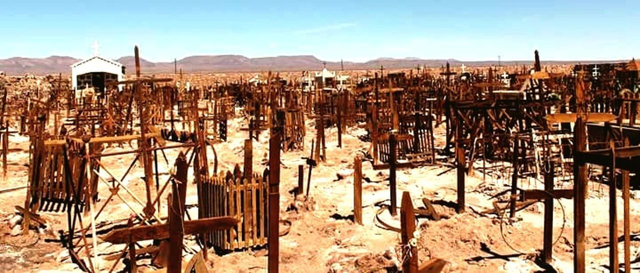 Day Desert No People Cemetery Chile South America