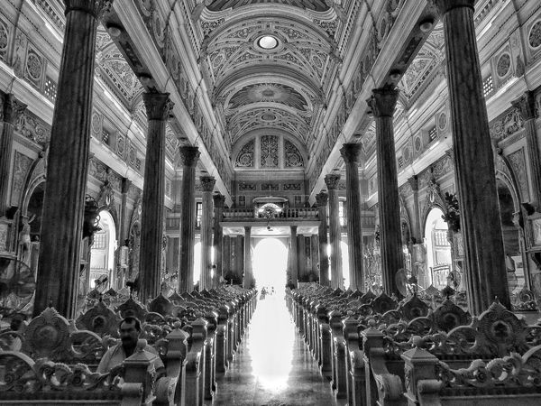 Basílica de la Chinita Architecture Indoors  Built Structure Day No People Black And White Friday